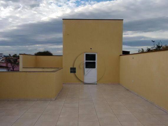 Cobertura residencial à venda, jardim progresso, santo andré - co0121.