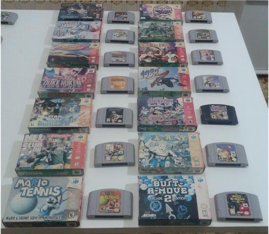 Fitas originais para Nintendo 64 (preço variado)