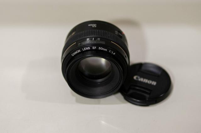 50mm 1.4 Canon aceito troca
