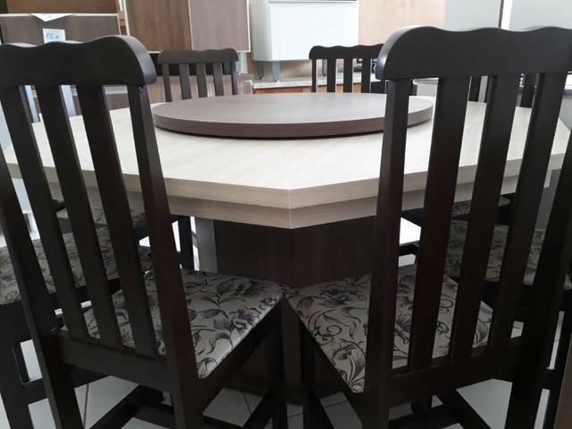 Mesa com 8 cadeiras - novo de fabrica - Foto 3
