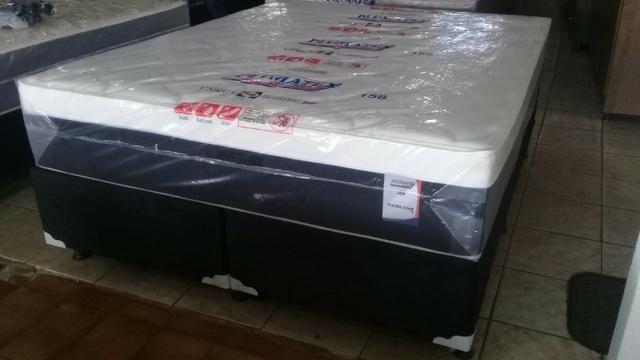 Cama queen size plumastar 158x198 mega saldão de 1399 por 999 a vista - Foto 6