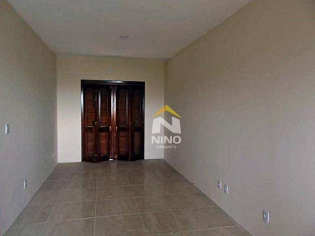 Apartamento com 2 dormitórios para alugar, 53 m² por r$ 1.000,00/mês - são vicente - grava - Foto 3