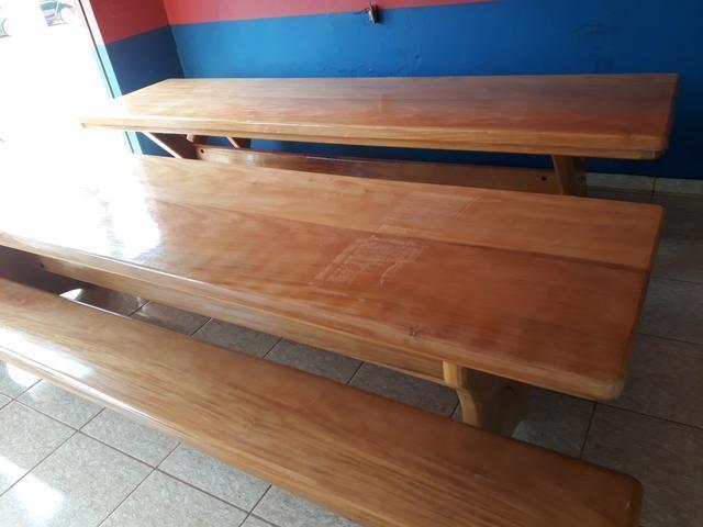 Mesa tipo da madeira garapeira - Foto 3
