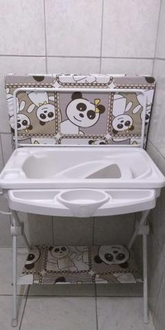 Berço, colchão e banheira com trocador - Foto 4