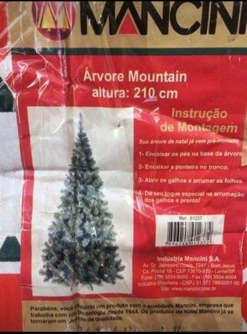 Arvore de natal Mancini 2,10 mtrs 565 pontas - Foto 4