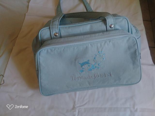 Linda Bolsa para maternidade azul - Foto 4