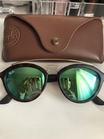 Óculos Ray Ban original cor verde espelhado - Bijouterias, relógios ... 4e15e35e75