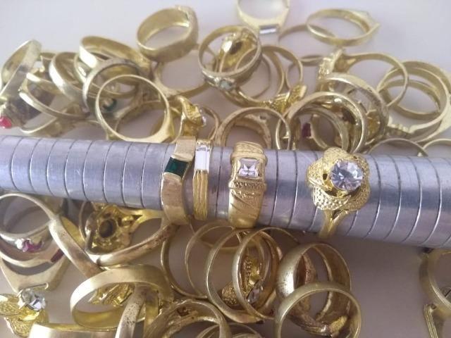 Alianças e anéis em Latão, cravados pra banhar - Rio Preto - SP - Foto 3