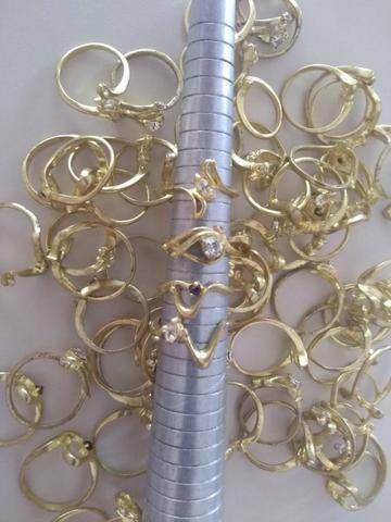 Alianças e anéis em Latão, cravados pra banhar - Rio Preto - SP - Foto 4