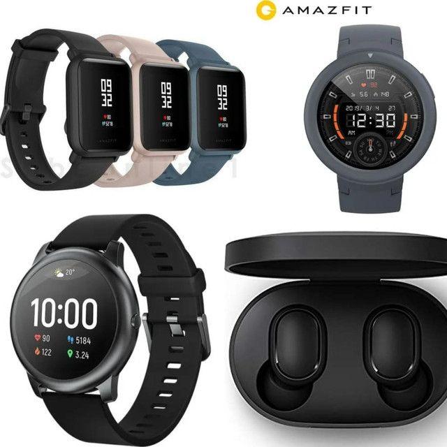 Relógios XIAOMI + Fones+ Pulseiras Amazfit Pace GTS GTR Miban4