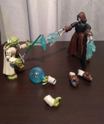 Mestre Yoda x Imperador Palpatine - Star Wars - Foto 5