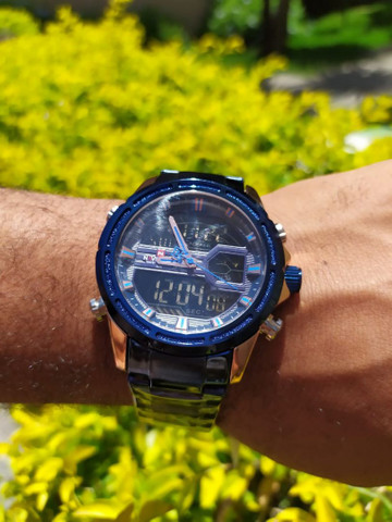 Relógio Naviforce Marca De Luxo Original Multifuncional,  Analógico e a prova d'água. - Foto 4
