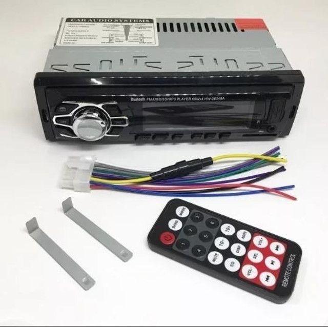 Promoção! Radio Automotivo Com Bluetooth Sd Mp3 Usb 45wx4 Com Viva Voz - R$ 134,99 - Foto 2