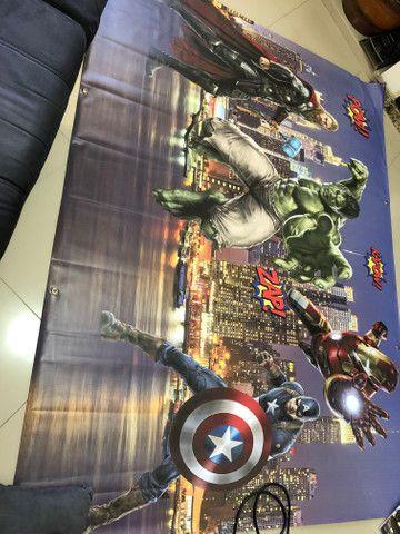 Painel e frente de mesa Vingadores - Foto 2