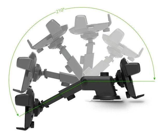 Suporte Veicular para Celular Universal Ajustável 360 - 8305 - Foto 3