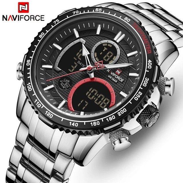 Relógio de pulso masculino original naviforce modelo 9182