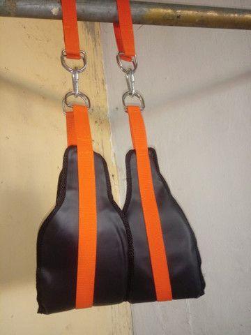 Caneleiras,Sand bag,colchonete,Roda p abdominal,Escada de agilidade,Elástico,Tipoia   - Foto 6