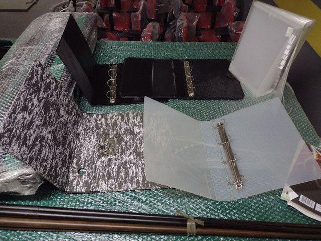 4 fichários,uma pasta e 576 folhas pra fichario - Foto 2