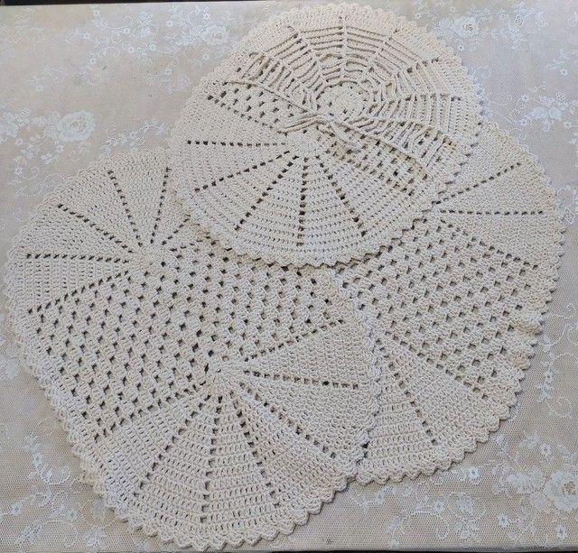 Conjunto 3 peças crochê - Foto 2