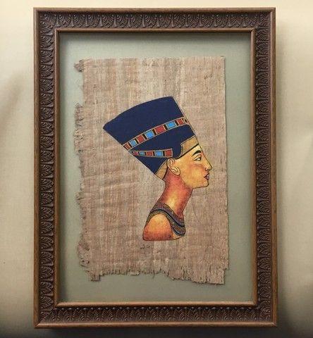 Pintura sobre papiro egípcio genuíno