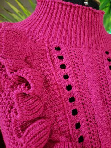 Casaco tricot linha mais maravilhosa!! - Foto 3
