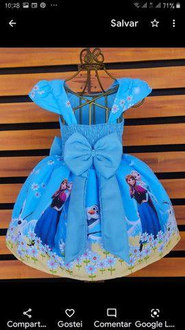 Vestido Frozen.  Vários tamanhos - Foto 2