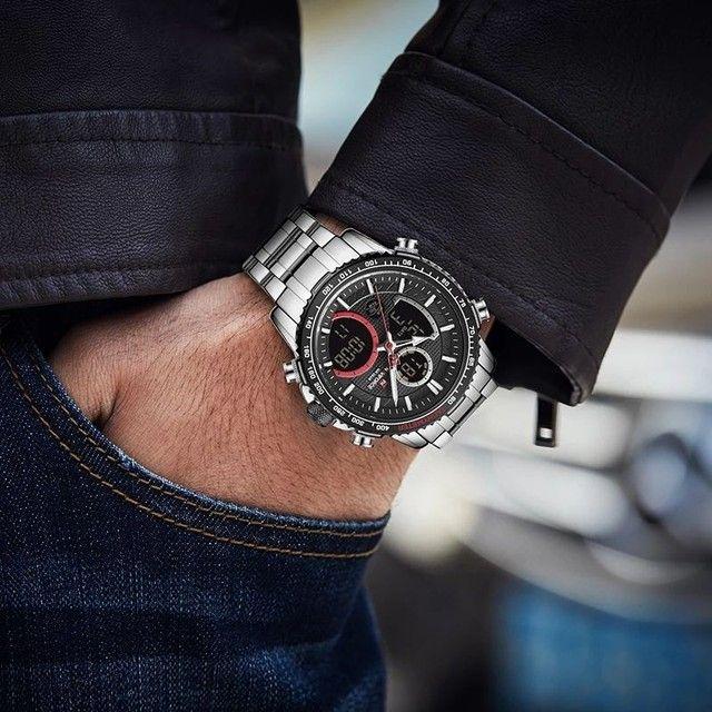 Relógio de pulso masculino original naviforce modelo 9182 - Foto 3