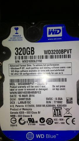 Hd 320gb wd