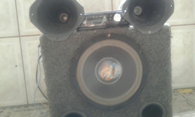 Cxa de som+aparelho