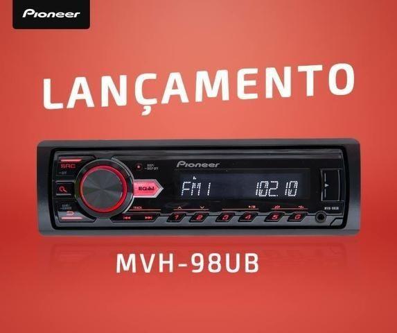 Pioneer MVH 98UB Auto radio usb aux radio novo 1 ano de garantia Lacrado Entregamos