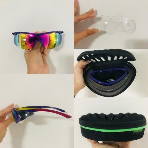 b47991707 Óculos Mormaii Atlhon para Corrida/Ciclismo - Roxo E Rosa Brilho - Roxo e  Amarelo