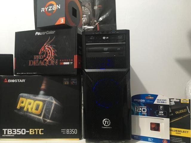 PC Gamer Ryzen + 8gb ddr4 + RX 470 4gb + SSD