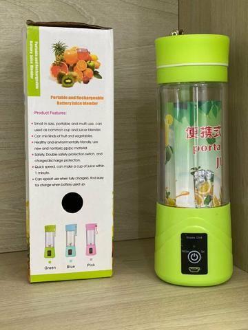 Liquidificador portatil verde