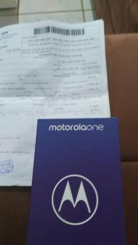 Celular Motorola one novo sem marcas de uso novo todo aceito cartão - Foto 5