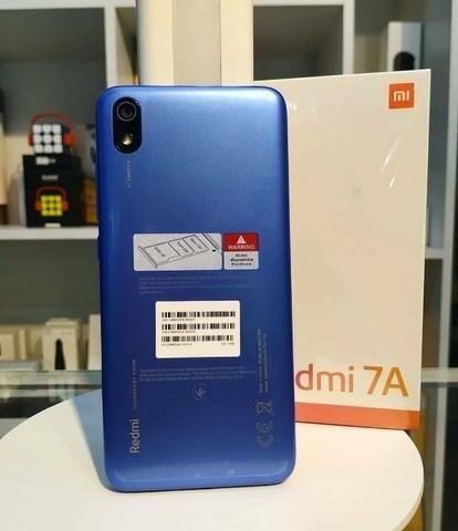 Celular Xiaomi Redmi 7A 16gb 2gb Ram + Película de vidro - Azul - Foto 4