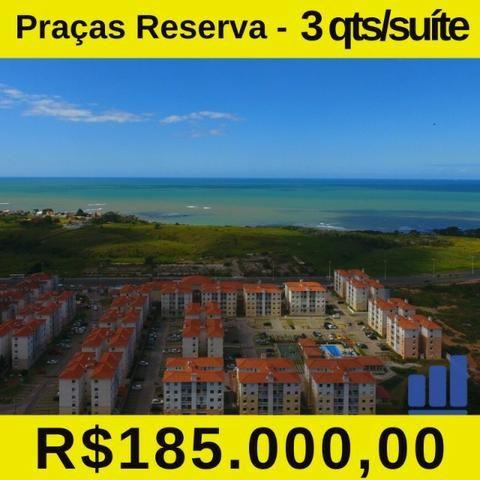 MR- Praças Reserva, apartamento com 3Q e 1 suíte e Lazer Completo