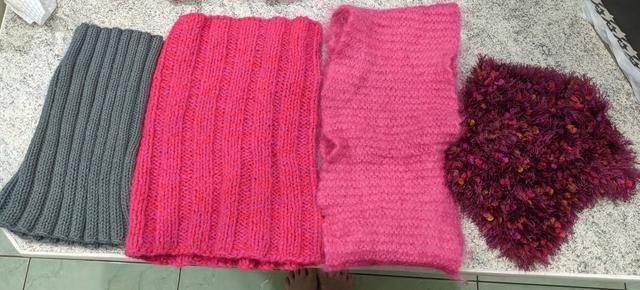 4 Golas de Tricot Lã