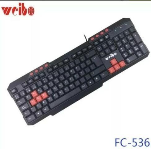 (NOVO) Teclado Gamer Com Fio Usb 2.0 Multimídia Weibo Fc-536