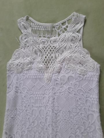 Vestido longo branco fendas nas laterais Tam. P - Foto 2