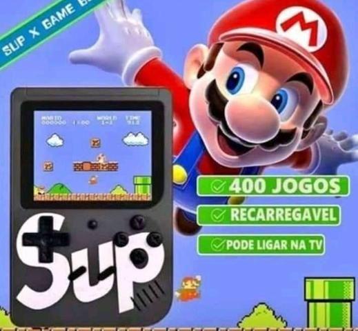 SUP 400 em 1 - Vídeo Game Portátil 400 jogos internos . Mini Game SUP Game Box Plus