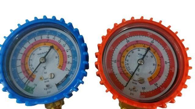 Manifold R410 R22a R407c c/3 mangueiras 1,50cm com visor de líquido - Foto 4