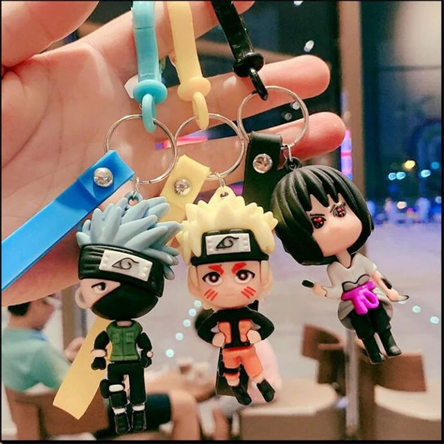 Chaveiro Naruto Shippuden Sasuke Kakashi  - Foto 4