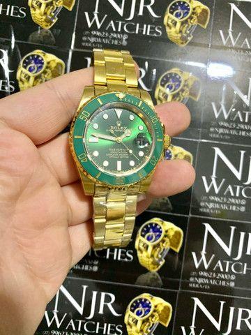 Relogio Rolex verde automatico novo lacrado top