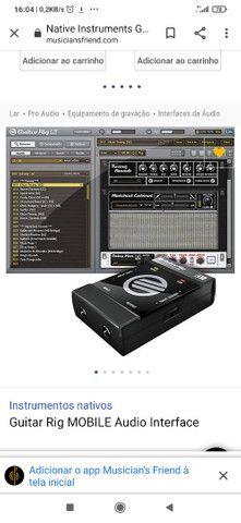 Interface de Áudio Guitar Rig Mobile USB - Foto 2