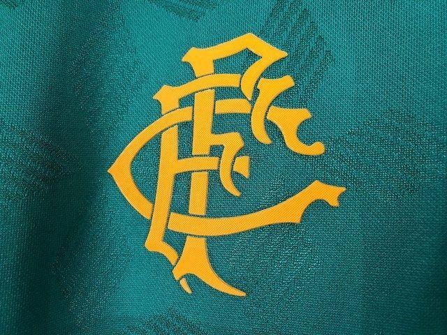 Camisa Fluminense III 20/21 S/n° Torcedor Masculina Verde+Laranja - Foto 4