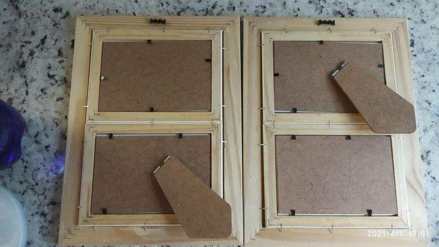 1 Porta retrato duplo 10x15 mesa ou parede - Foto 2