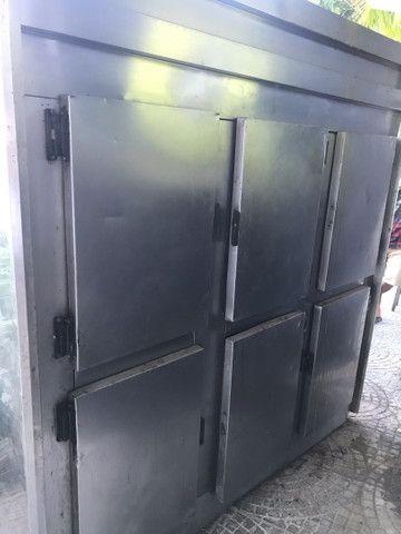 Geladeira freezer Inox 6 portas