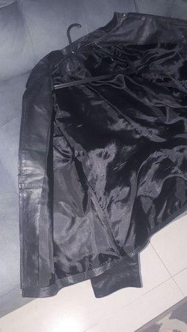 Jaqueta de couro legítimo tam M Unissex - Foto 3