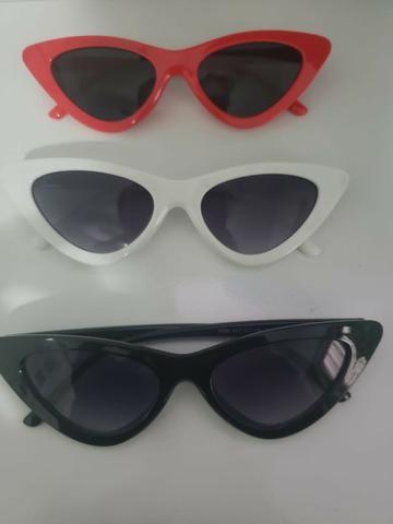 f8b754bb9 Óculos De Sol Gatinho Anos 80 Vermelho Uv Retrô Vintage Tumblr - Novo