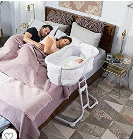 Berço Moisés p/ lateral da cama de casal - Foto 3